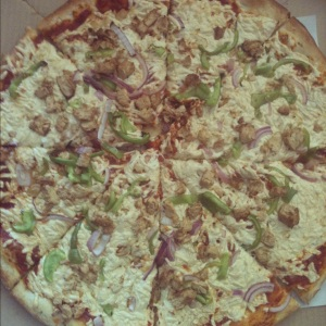 Spicy Chick pizza at Purgatory Pizza