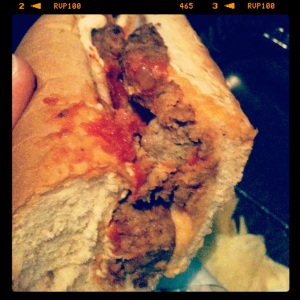 Meatball Sub at Cruzer Pizza
