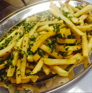 Potato Harra (aka the best French fries you will ever eat) at Hayat's Kitchen