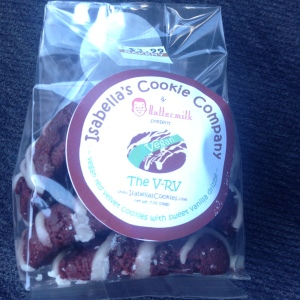Not sure what V-RV stands for but these vegan red velvet cookies are great!