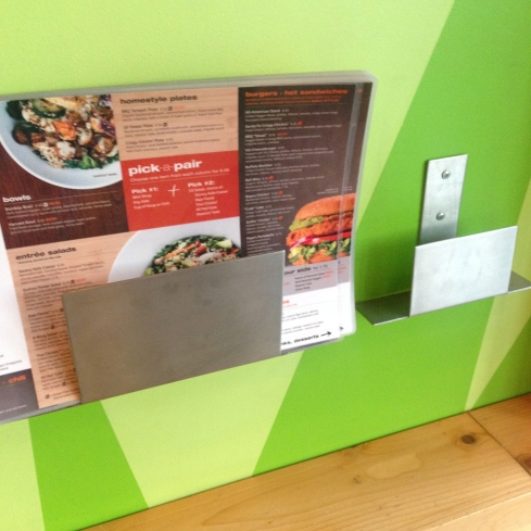 "Hey, where'd the ""mindful living"" menus go?"